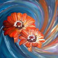 Acrylmalerei, Malerei, Blumen,