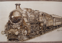 Dampflokomotive, Dampflok, Holz, Technik