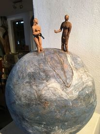 Skulptur art, Der blaue planet, Plastik, Erde