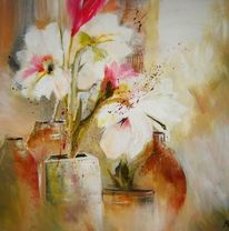 Amarilys, Malerei, Blumen, Amaryllis