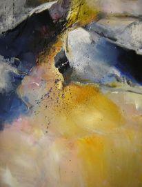 Abstrakt, Acryl auf leinwand, Malerei, Dynamik