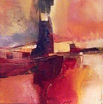 Rot, Fantasie, Abstrakt, Malerei