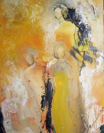 Ausschnitt, Party, Malerei, Menschen