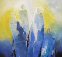 Menschen, Malerei, Abstrakt