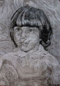 Malerei, Portrait, Kinderportrait