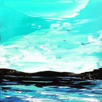 Ölfarben, Am strand, Spachteltechnik, Malerei