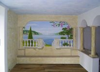 Illusionsmalerei, Wandmalerei, Toskana, Malerei