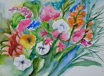 Bunte blumen, Moderne kunst, Blumen, Sommerblumen