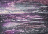 Meer, Monochrom, Sturm, Malerei