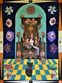 Panther, Thron, Kaiserin tarot, Schädel