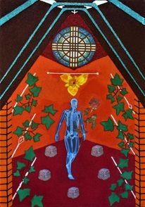Efeu, Skelett mit rose, Tigerlilie, Saint stephen