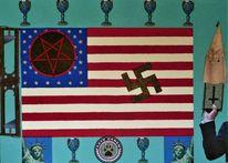 Pentagramm, Tarnkappe, Guillotinen, Swastika