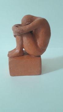 Skulptur, Sitzen, Figur, Männlich