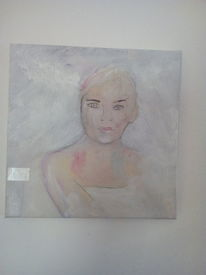 Struktur, Weiß, Frau, Malerei