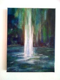 Moderner Wasserfall Design H/ängeschirm mit klaren//farbigen Acryl-Tropfen und Perlen von Happy Homewares