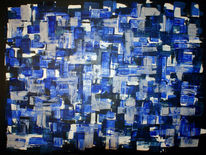 Abstrakt, Acrylmalerei, Blau, Malerei