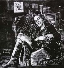 Kunstenaar, Gravure sur bois, Holzdruck, Xilografia