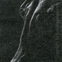 Pointillismus, Akt, Mann, Punkt