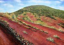 Salagou, Landschaft, Rote erde, Malerei