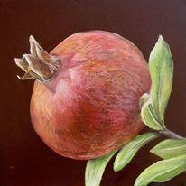 Toskana, Granatapfel, Rot, Malerei