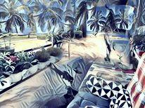 Balkon, Strand, Fantasie, Fantasire