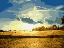 Brandenburg, Zeit, Harvesttime, Digital bearbeitet