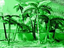 Grüne lagune, Grün, Outsider art, Fotografie