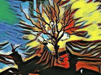 Baum, Digitale kunst, Herbst, Outsider art