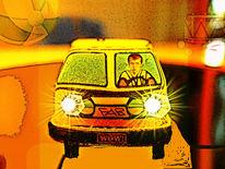 Schwungradmotordeliveryvan, Outsider art, Digitale kunst, Digital