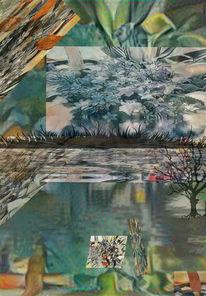 Abschied, Outsider art, Winter, Frühling