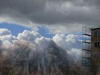 Himmel, Erde, Gerüst, Wolken