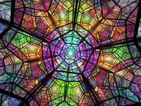 Vielfarbig, Polieder, Lichtpunkt, Dreidimensional