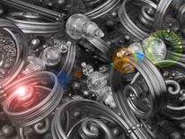 Lockig, Dekoration, Metall, Schnörkel