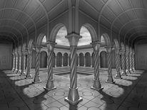 Wolken, Grau, Architektur, Tonnengewölbe