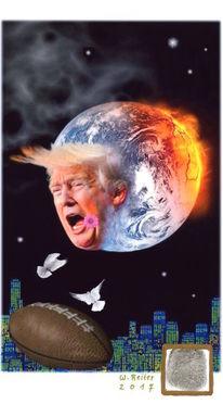 Football, Ökokünstler, Donald trump, Präsident