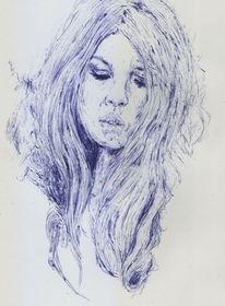 Bardot, Haare, Frankreich, Frau
