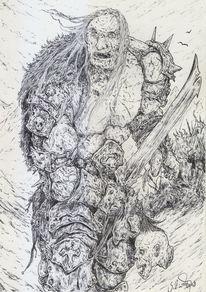 Monster, Dämon, Krieg, Muskulatur