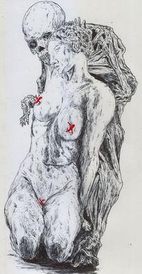 Figur, Tod, Grieche, Statue