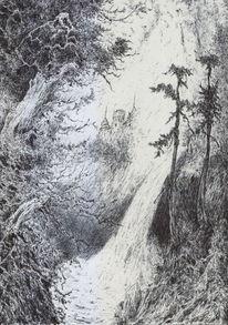 Landschaft, Dunkel, Alte meister, Baum