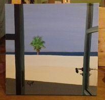 Meer, Acrylmalerei, Naxos, Tür
