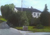 Haus, Tanne, Hof, Baum