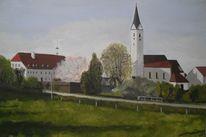 Maibaum, Kirche, Baum, Wirt