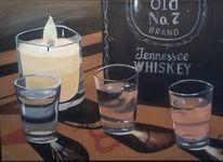 Trinkglas, Stillleben, Kerzen, Durst