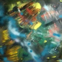 Gelb, Grün, Blau, Malerei
