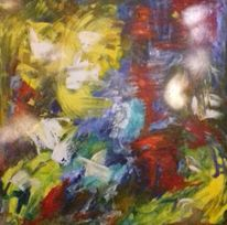 Abstrakt, Dynamik, Farben, Malerei