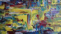 Bunt, Abstrakt, Gelb, Malerei
