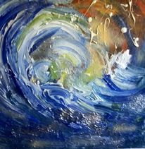 Blau, Wasser, Welle, Malerei