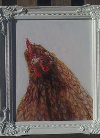 Huhn henne, Malerei