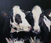 Kuh, Holsteiner, Malerei,