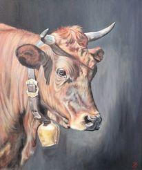 Kuh, Kuhportrait, Portrait, Malerei